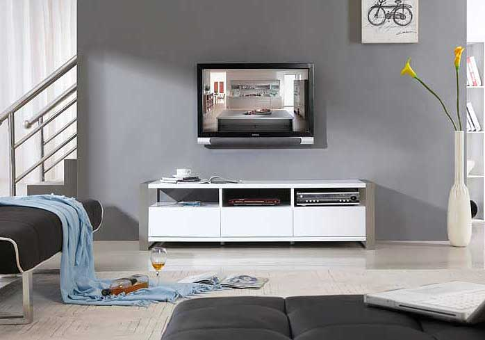 modern white tv stand bm4 tv stands. Black Bedroom Furniture Sets. Home Design Ideas