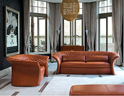 Pattinatore Leather Sofa Set by Planum