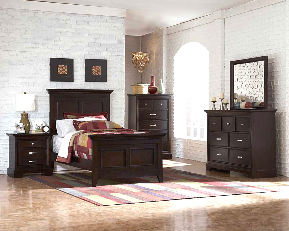 Home Kids Kids Bedroom Dark Cherry Bedroom Set HE349