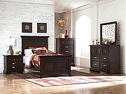 Dark cherry bedroom set HE349