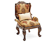BT 061 Classical Italian Accent Chair in Mahogany Finish