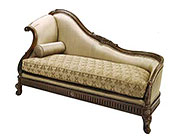 BT 076 Traditional Chaise Lounge in Walnut