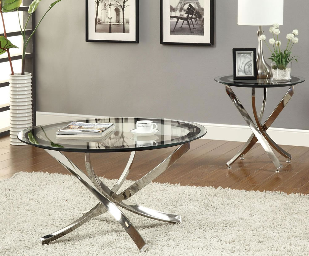 Julie Glass Coffee Table CO 588 - Contemporary Coffee Tables San Francisco