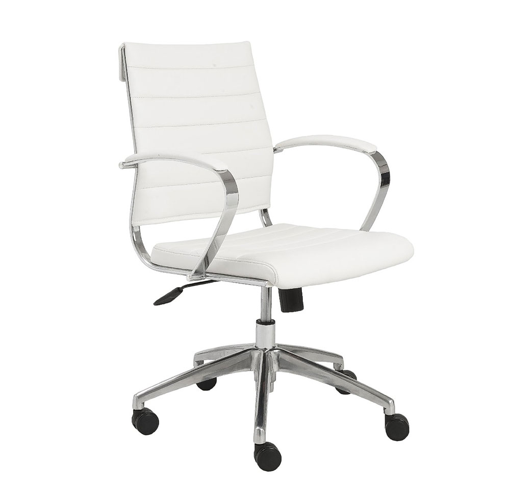 Axel Low Back White Office Chair With Armrests Office Chairs