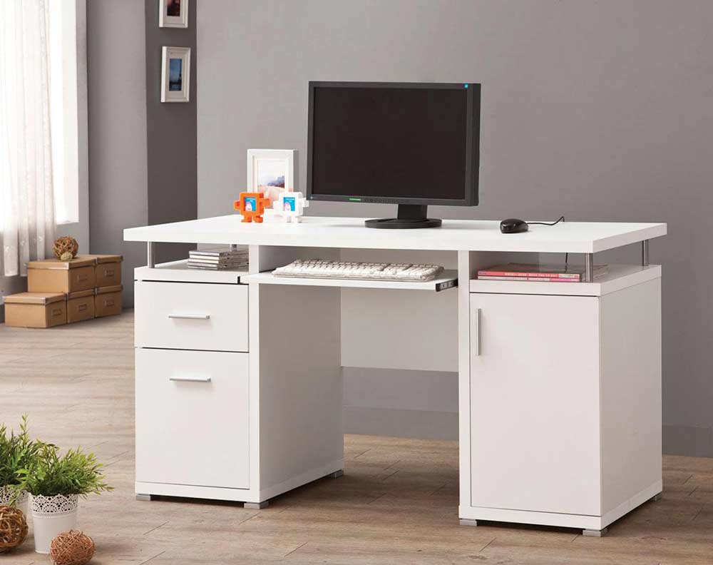 White Computer Desk CO 108