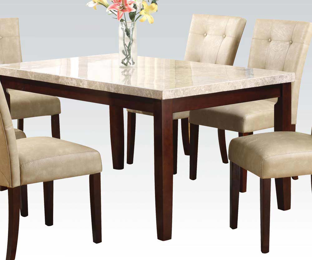 Marble top modern dining table ac 058 urban transitional for Modern marble dining table