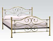Antique Brass Headboard and Footboard Jolene AC 512