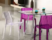 Stackable Purple Dining Chair Z362