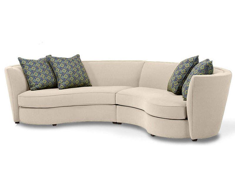 Custom Curved Shape Sofa Avelle 232  sc 1 st  Avetex Furniture : round sectional sofa - Sectionals, Sofas & Couches