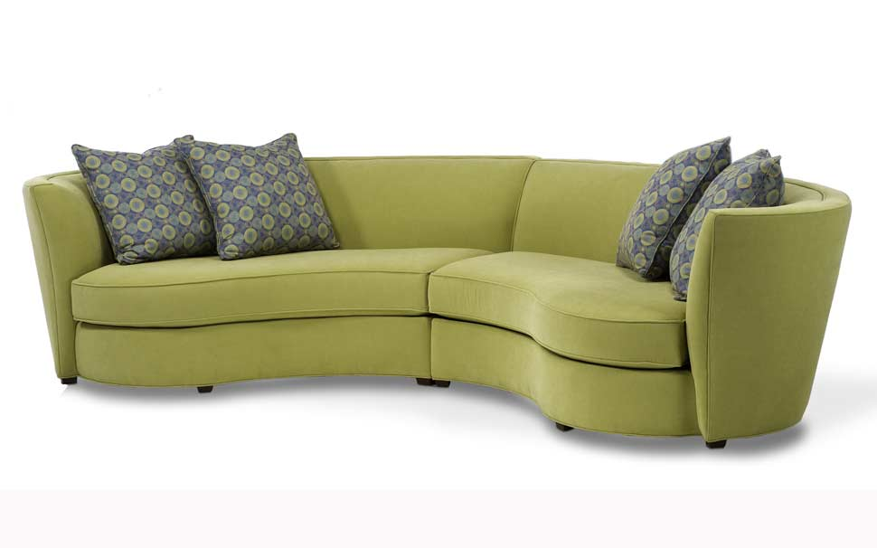 Custom curved shape sofa avelle 232 fabric sectional sofas Unique loveseats