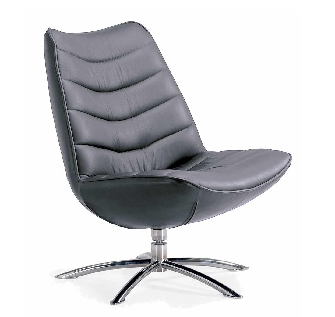 Fjords Breen Swivel Top Grain Leather Chair