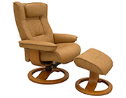 Fjords Regent Top Grain Leather Recliner