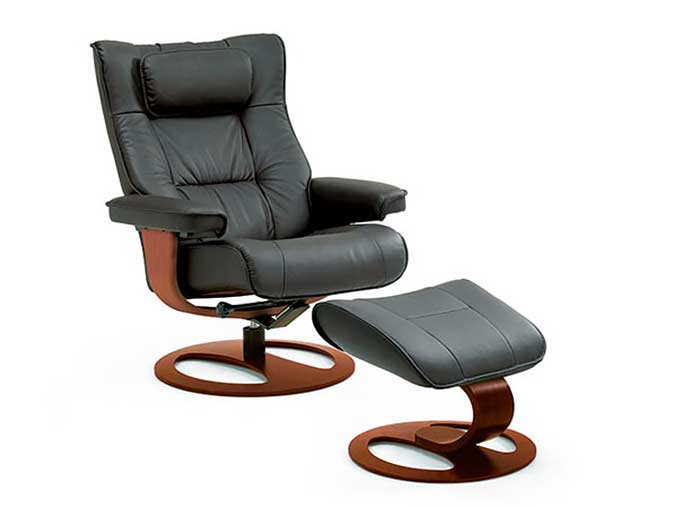 Fjords Regent Top Grain Leather Recliner Fjords