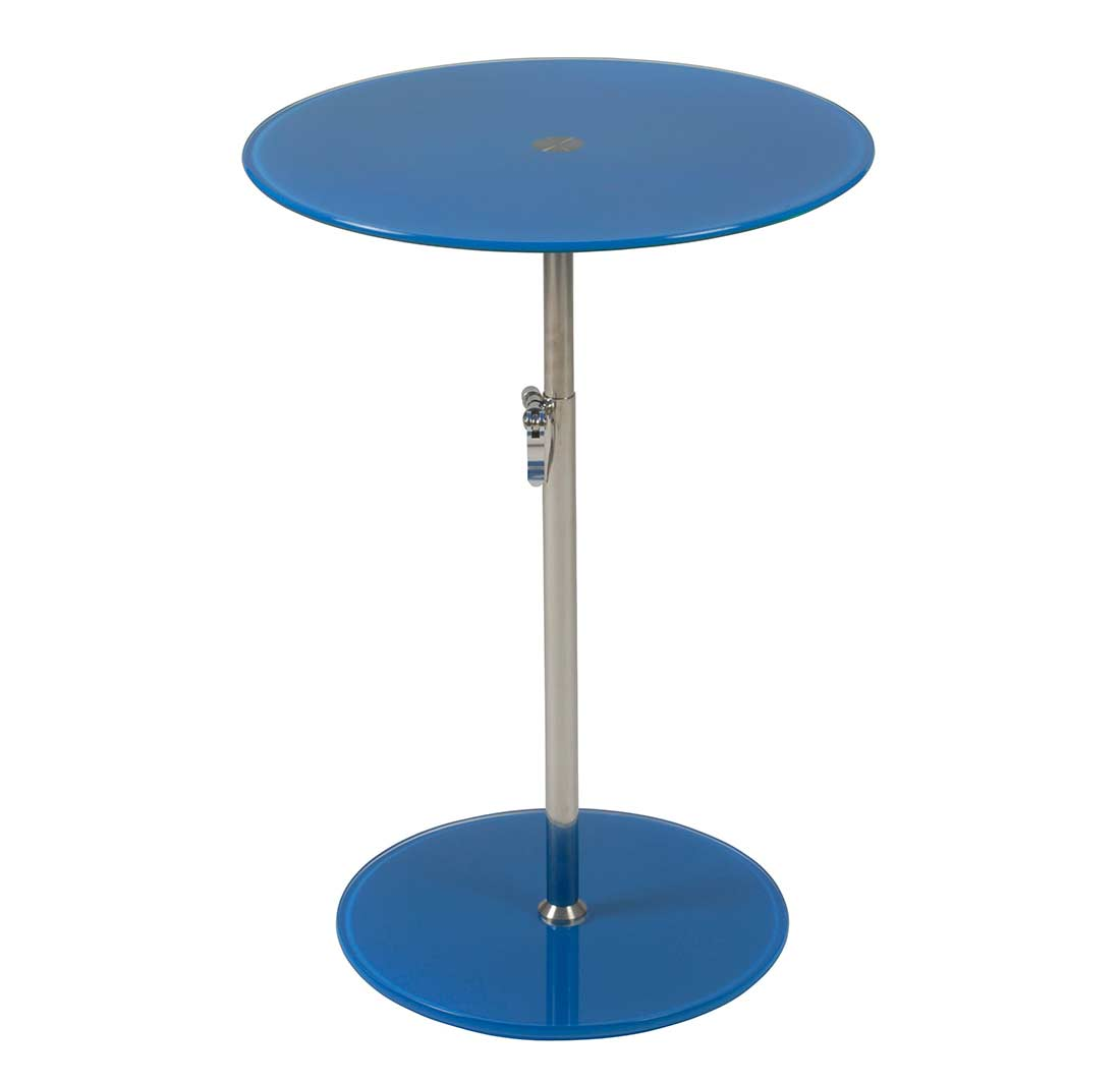 side table glass adjustable height estyle 196 in yellow