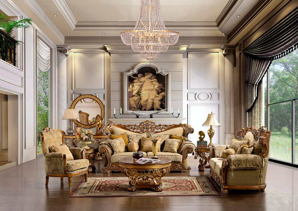 Traditional luxury sofa hd963 traditional sofas for Victorian villa interior design