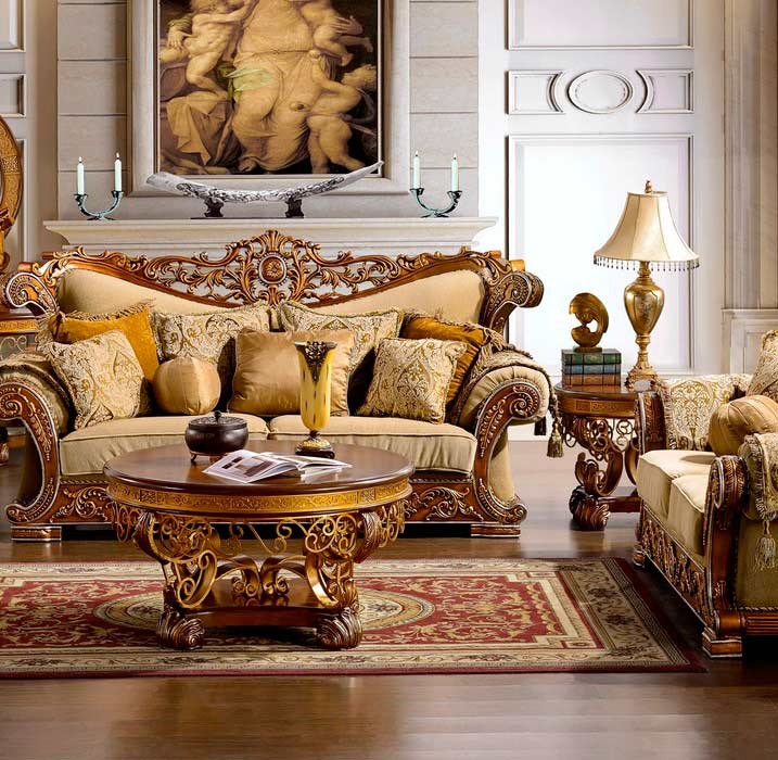 Traditional Sofas Living Room Furniture: Traditional Luxury Sofa HD963