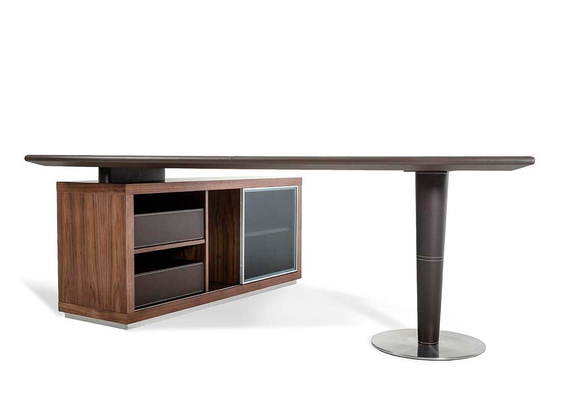 Modern office desk and side storage cabinet desks for Modern office desk