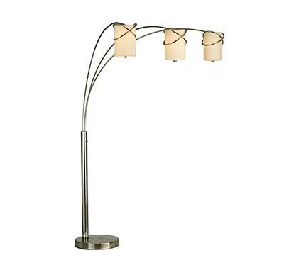 Floor arc lamp nl934 floor table for Arc floor lamp with fabric shade