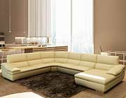 Italian Leather Beige sectional sofa VG782C