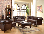 Tuffted bonded leather sofa set AC Semadara