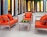 Modern Orange Outdoor Set ZU51