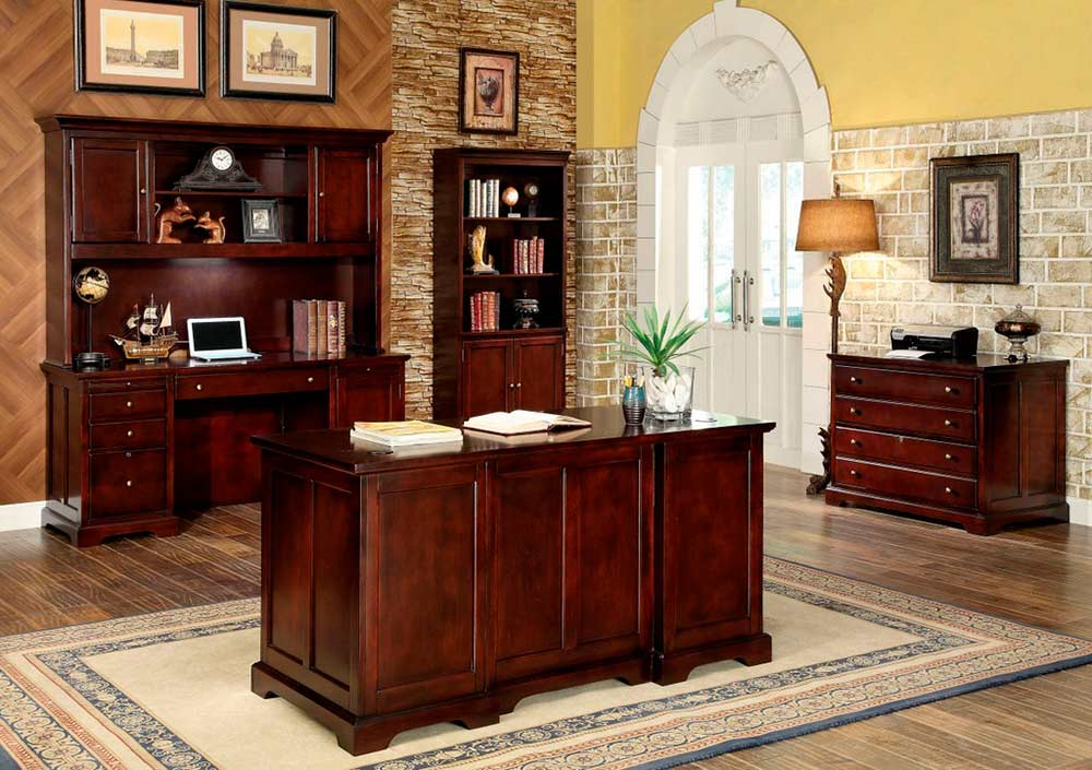Transitional Cherry Office Desk Fa207 Desks