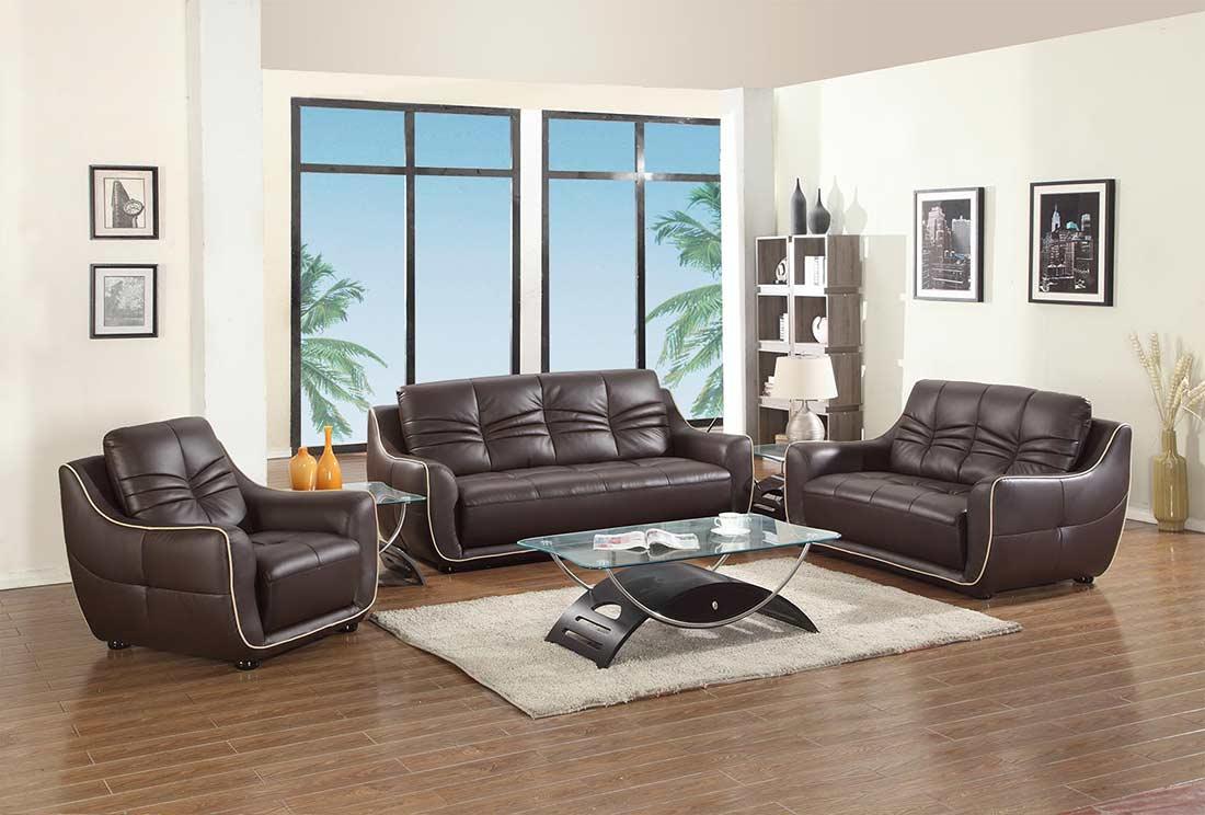 Modern Brown Leather Sofa GU-88