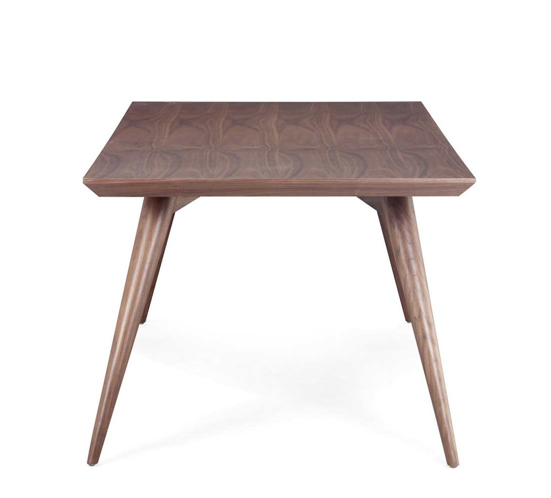 Walnut modern dining table z001 modern dining for On the dining table
