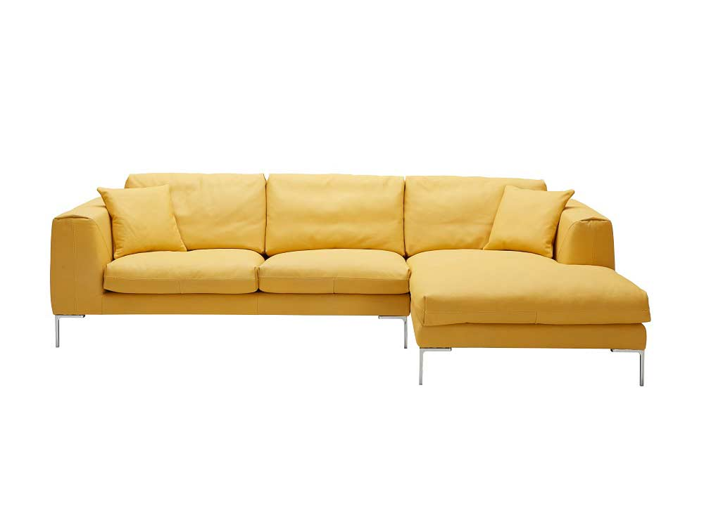 Yellow Premium Leather Sectional Sofa Yellow Premium Leather Sectional Sofa  sc 1 st  Avetex Furniture : yellow leather sectional - Sectionals, Sofas & Couches