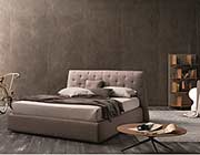 Modern Taupe Gray Fabric bed NJ082