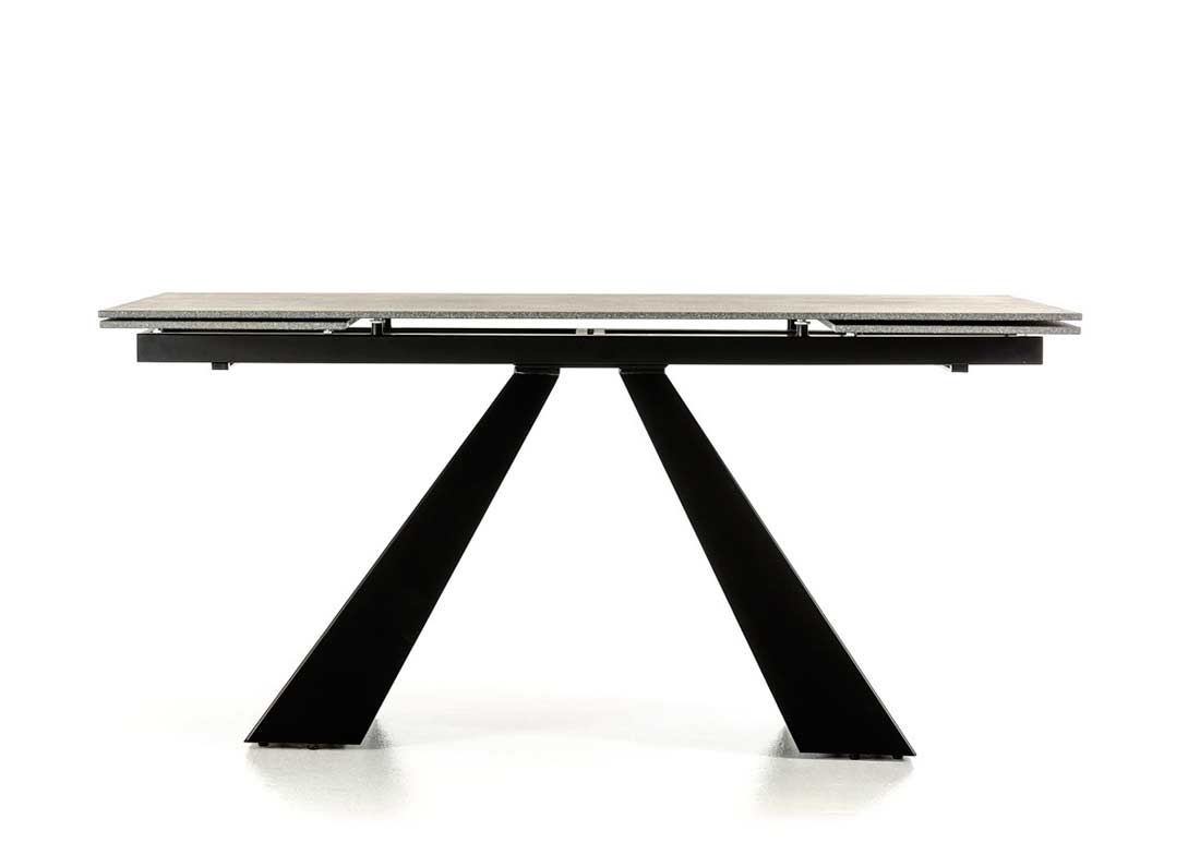 Modern Concrete Glass Extendable Dining Table VG Modern Dining - Extendable concrete dining table