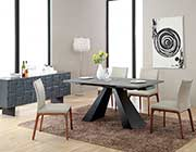 Modern Concrete Glass Extendable Dining Table VG911