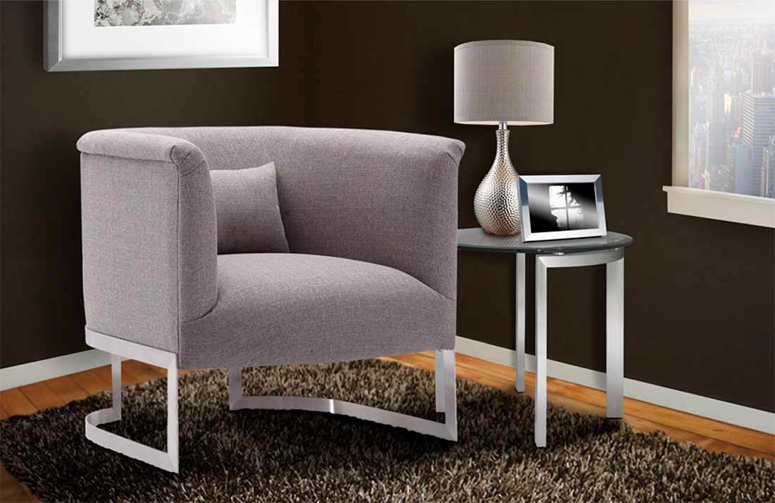 Outstanding Grey Fabric Accent Chair Arl Ellie Accent Seating Inzonedesignstudio Interior Chair Design Inzonedesignstudiocom