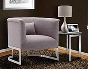 Grey Fabric Accent Chair ArL Ellie