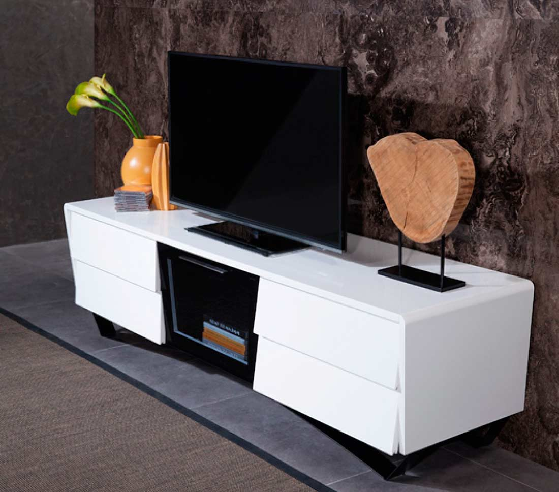 White High Gloss Tv Stand Vg 102 Tv Stands