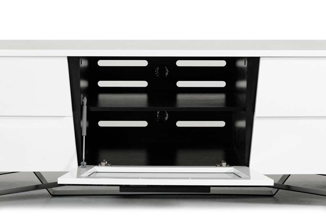 Black Smoked Glass Tv Stand