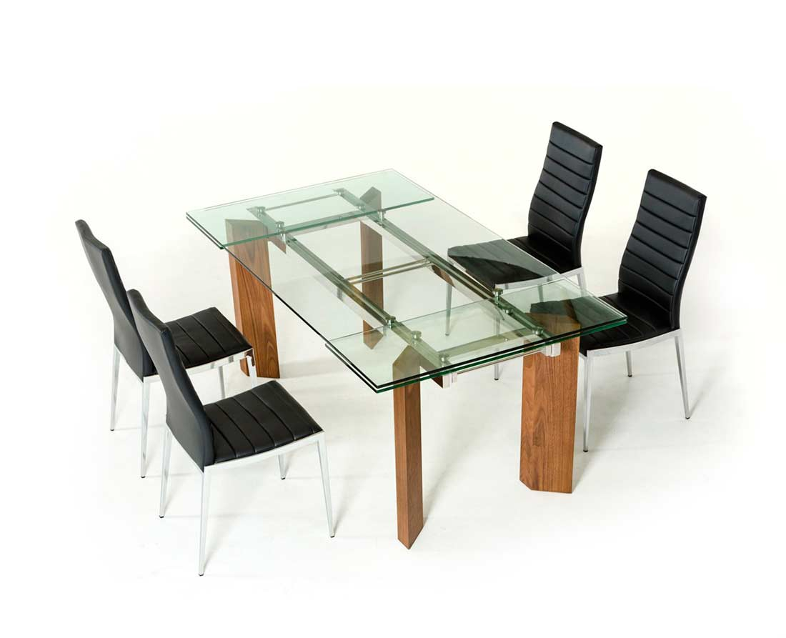 dining room modern dining extendable glass top dining t