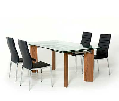 Extendable Glass Top Dining table VG 048