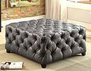 Contemporary Button Tufted Ottoman FA79