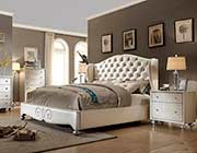 Diamond Tufted Pearl bed MF708