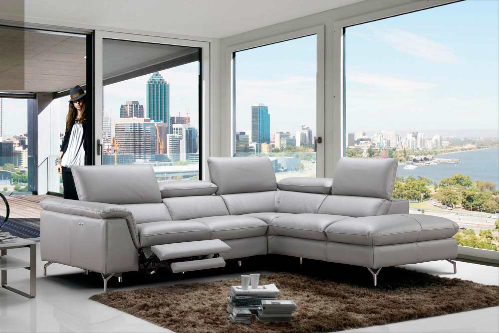 Power Recliner Italian Leather sofa NJ Velia | Leather Sectionals