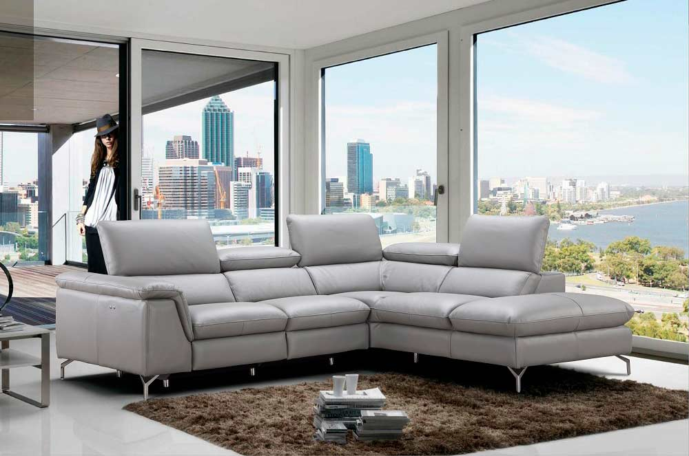 Surprising Power Recliner Italian Leather Sofa Nj Velia Leather Machost Co Dining Chair Design Ideas Machostcouk