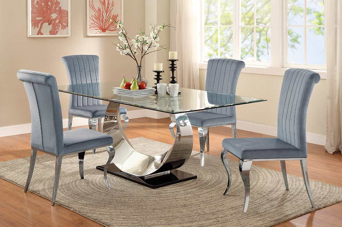 Black Glass Dining Table Co071 Modern Dining