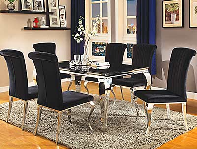Black Glass Dining Table CO071