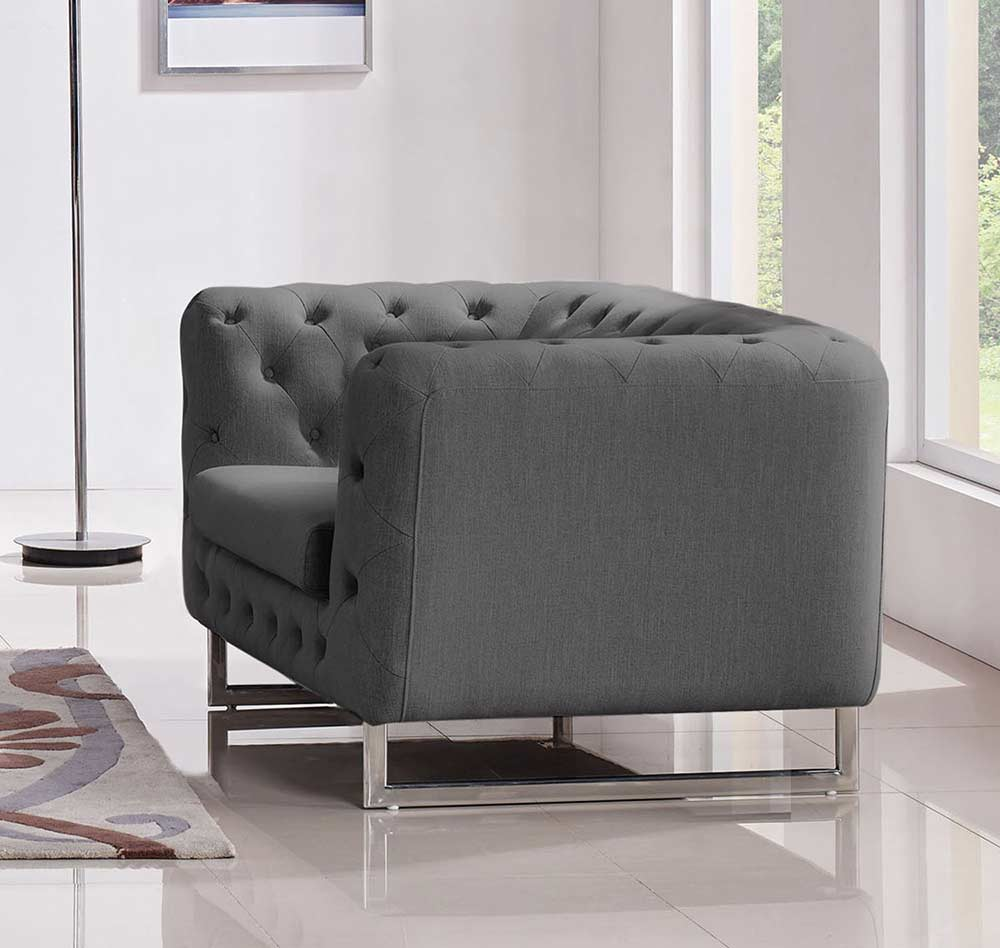 Grey Fabric Tufted Sofa DS 073 ...