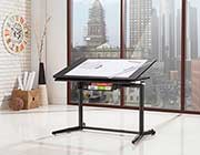 Black Wood Metal Adjustable Drafting Desk CO668