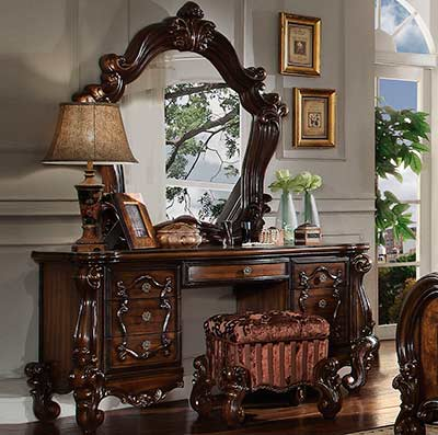 Cherry Oak Vanity Set Ac 137 Bedroom Vanity Sets