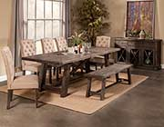 Salvaged Grey Extendable Dining Table AF 021