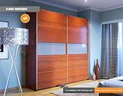 Modern Sliding Wardrobe Nelly in Cherry