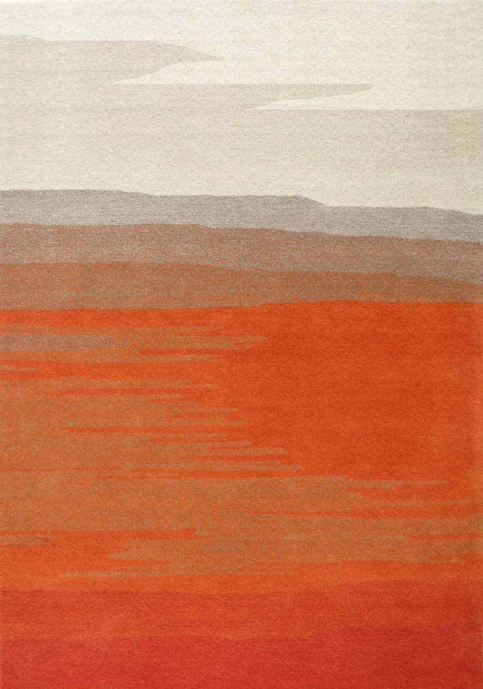 Orange Tones Hand Tufted Wool Rug Fr 033 Design Rugs